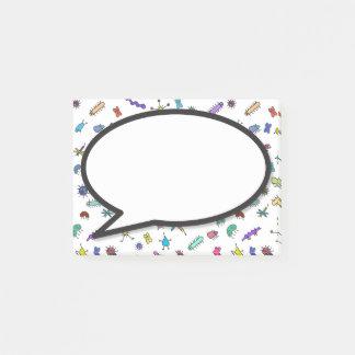 Miniwanzen und Minitier-Spracheblase Post-it Klebezettel