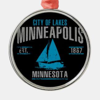 Minneapolis Silbernes Ornament