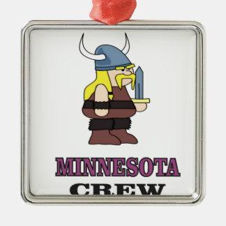 Minnesota-Crew Silbernes Ornament