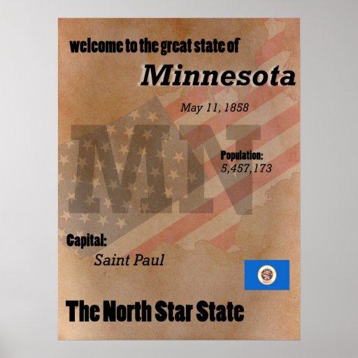 Minnesota der Nordstern-Staats-Klassiker Poster