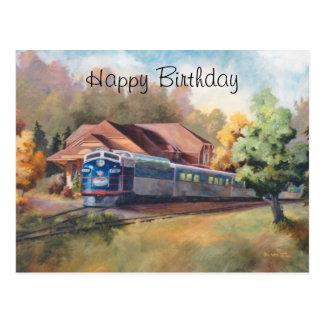 Minnesotazephyr-Zug-Geburtstag Postkarte
