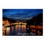 Minuit dans la carte de Paris Cartes Postales