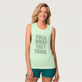 Minze F, was sie Aussagen-T - Shirt denken