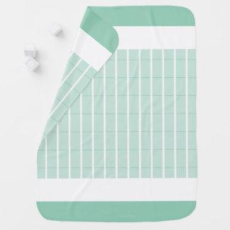 Minze-Kariert-Akzent-Baby-Decke-Zwei-Mit Seiten Babydecke