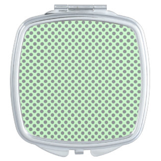 Minzen-Grün mit grauen Tupfen durch Shirley Taylor Taschenspiegel
