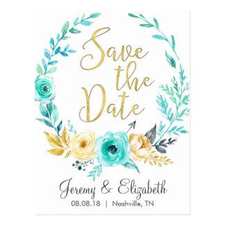 Minzen-u. GoldblumenSave the Date Postkarten