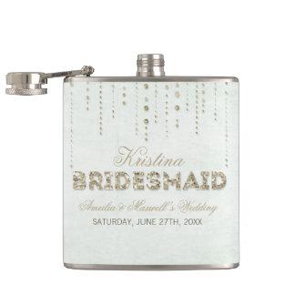 Minzen-u. GoldGlitter-Blick-Brautjungfern-Flasche