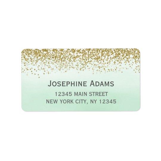 Minzen-und Goldadressen-Etiketten Adressaufkleber