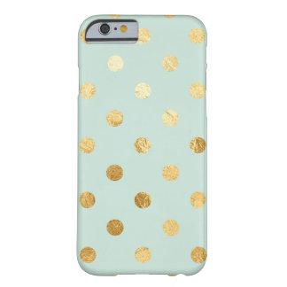 Minzen-und GoldTupfen-Telefon-Kasten Barely There iPhone 6 Hülle