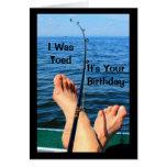 Mir Toed es bin Ihr Geburtstag Grußkarte