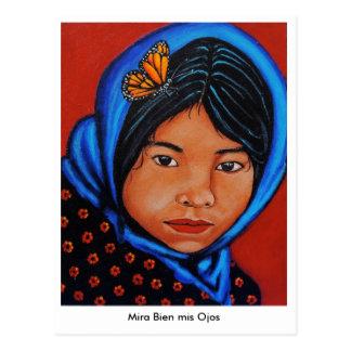 """Mira Bien mis Ojos "" Postkarte"