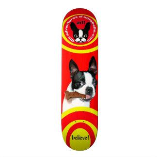 Mirabellen-Skateboard Bostons Terrier 18,7 Cm Mini Skateboard Deck
