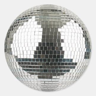 Mirrorball Disco-Ball Runder Aufkleber