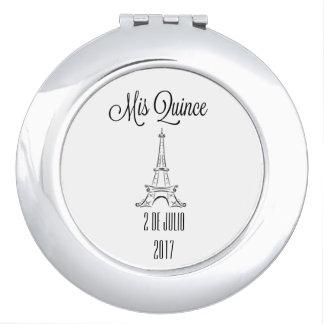 Mis-Quitte - fertigen Sie besonders an - Paris Taschenspiegel