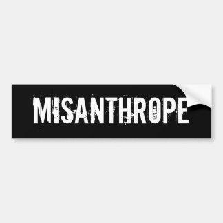 MISANTHROPE AUTOCOLLANT DE VOITURE