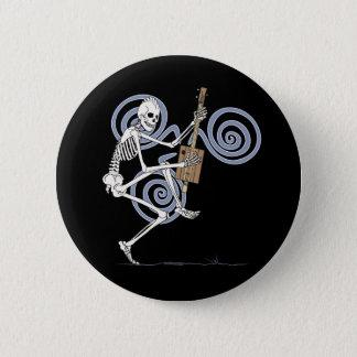 Miserabeler Skeleton Gitarrist Runder Button 5,1 Cm