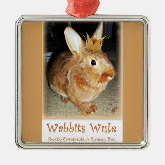 MissbilligenHäschen Wabbits Wule Verzierung Silbernes Ornament