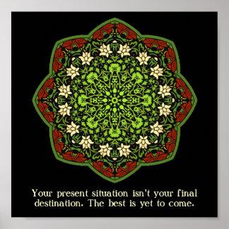 Missbrauchs-Überlebend-Mandala-inspirierend Plakat