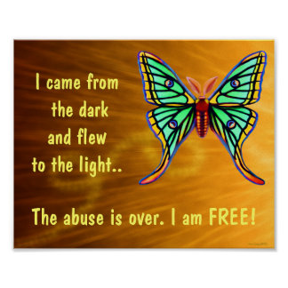 Missbrauchs-Überlebend-Schmetterlings-Plakat Poster