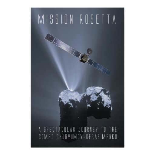 Mission Rosetta - Tribute to a spectacular Journey Poster