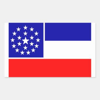Mississippi schlug Flagge vor (2001) Rechteckiger Aufkleber