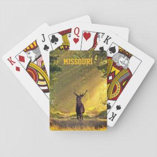 Missouri-Dollar-Rotwild Spielkarten
