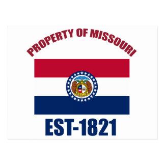 Missouri-Entwürfe Postkarte