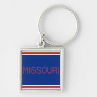 Missouri erstklassiges quadratisches Keychain Schlüsselanhänger