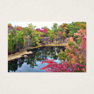Missouri-Fall-Schablonen-Visitenkarte Visitenkarte