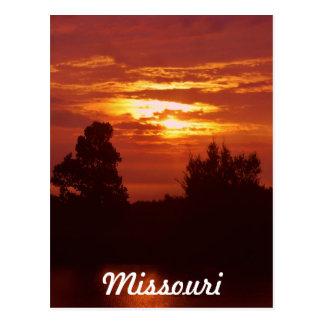 Missouri-Sonnenuntergang Postkarte