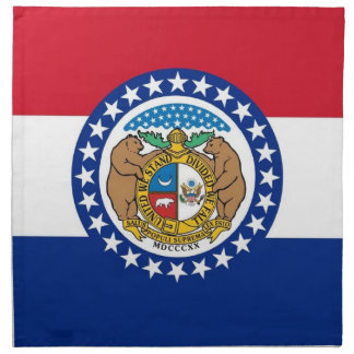 Missouri-Staats-Flaggen-Amerikaner MoJo Serviette