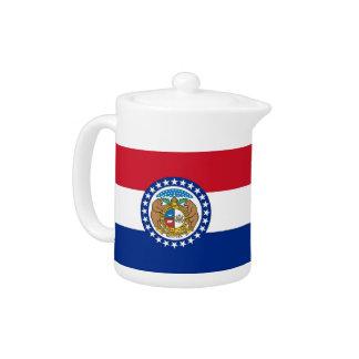 Missouri-Staats-Flaggen-Teekanne
