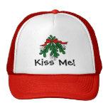 """Mistelzweig """"küssen mich"""" Weihnachtskappe Mütze"""