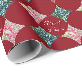 Mistelzweig u. roter Beeren-Feiertag botanisch Geschenkpapier