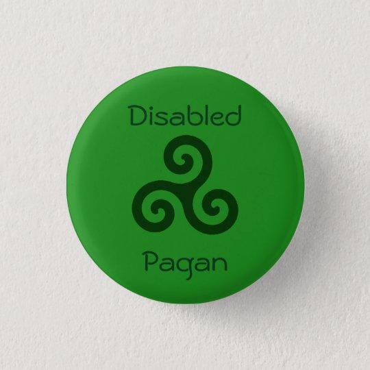 Mit Behinderung Heide Runder Button 2,5 Cm