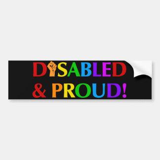 Mit Behinderung u. stolz Autoaufkleber