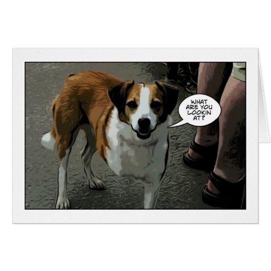 mit Beinen versehener Hund drei Grußkarte