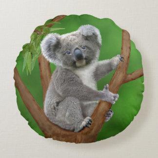 Mit blauen Augen Baby-Koala-Bär Rundes Kissen