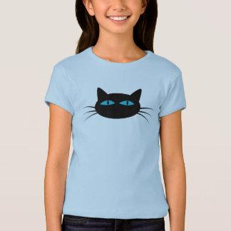 Mit blauen Augen schwarze Katze T-Shirt