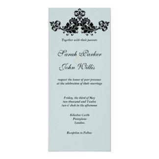 Mit Blumen blühen Sie Hochzeit einladen 10,2 X 23,5 Cm Einladungskarte