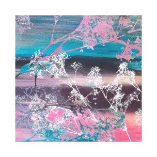 Mit Blumen, Collagen-Szenen-Leinwand Leinwanddruck