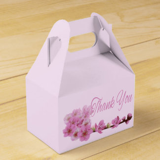 Mit Blumen danke das lila Kirschblüten-Rosa Geschenkschachtel