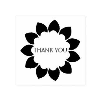 Mit Blumen danke Gummistempel
