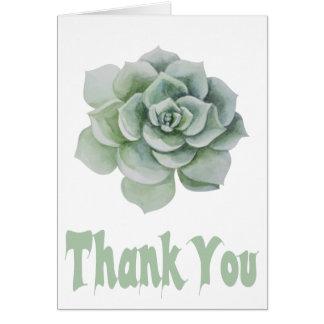 Mit Blumen danke tadelloses grünes saftiges Karte