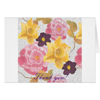 """mit Blumen """"danke"""" zu kardieren Grußkarte"""