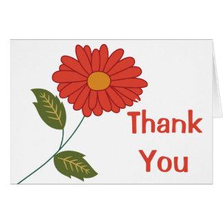 Mit Blumen danke, zu verrosten rote Karte