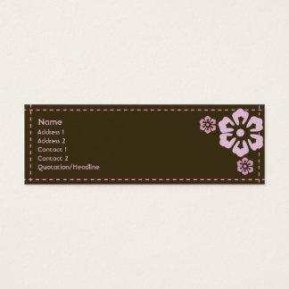 Mit Blumen - dünn Mini-Visitenkarten