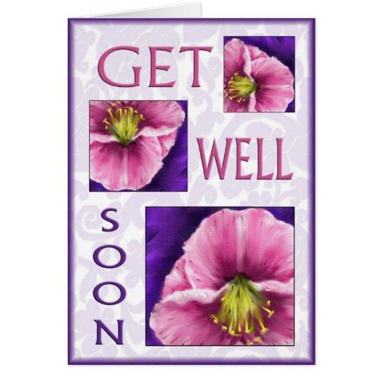 Mit Blumen erhalten Sie Wünsche des Brunnens bald Karte