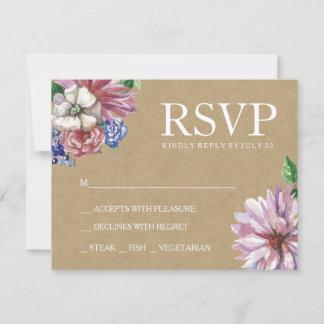 Floral in Love Wedding RSVP Card