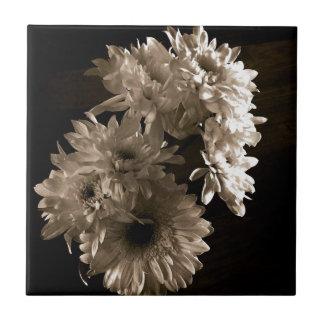 Mit Blumen Kleine Quadratische Fliese